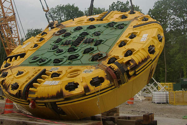 The TBM provided by Herrenknecht measures 350t in length and weighs 1,500t.