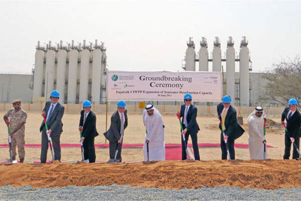 Groundbreaking ceremony for the expansion of the Fujairah 1 plant was held in June 2013.