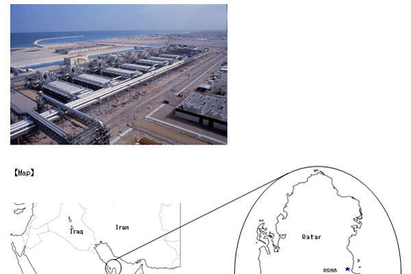 The desalination plant is located about 10km south of Doha.