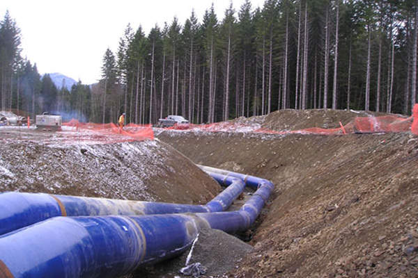 Kenaidan is the primary contractor of the South Fork water treatment facility. Image courtesy of City of Nanaimo.