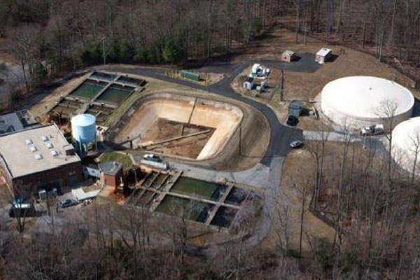The new water treatment plant will be built to replace the existing aging water treatment plant. Image courtesy of Atkins.