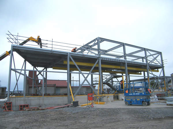 The replacement building being constructed at Port Rodie. Image courtesy of Scottish Water.