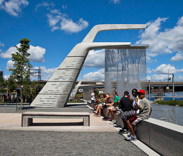 The Sherbourne Common park was opened to the public in July 201. Image courtesy of Waterfront Toronto.