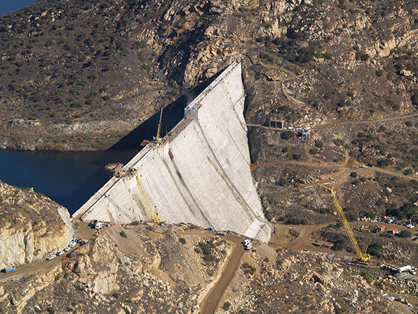 Filling of the dam to its full capacity will be achieved within two to five years. Image courtesy of SDCWA.