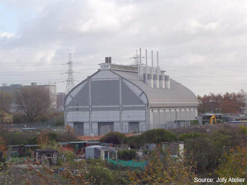 The Abbey Mills pumping station; an additional spur tunnel will run from here to Beckton.
