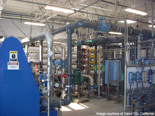 Energy recovery devices cut the energy requirement of the facility by 60%.