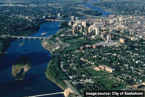 The city includes more than 120 hectares of riverbank parklands - flooding in the spring and summer of 2007 led to new initiatives on wastewater.