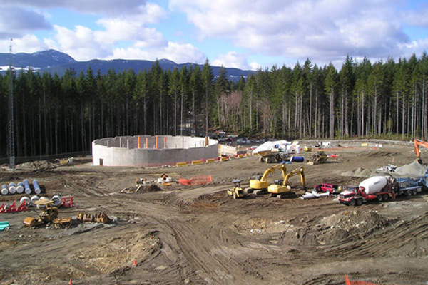 The facility is located two kilometres north of the Nanaimo River road. Image courtesy of City of Nanaimo.