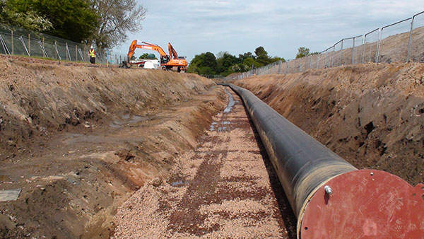 More than 15km of 1.2m diameter water supply pipelines were installed to transfer the treated water to the Scottish capital city. Image courtesy of Scottish Water.