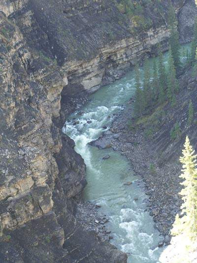 The source of the North Saskatchewan River – from which Edmonton draws its drinking water – is the Saskatchewan Glacier in the Columbia Icefields, the only glacier in the world to drain into three oceans.