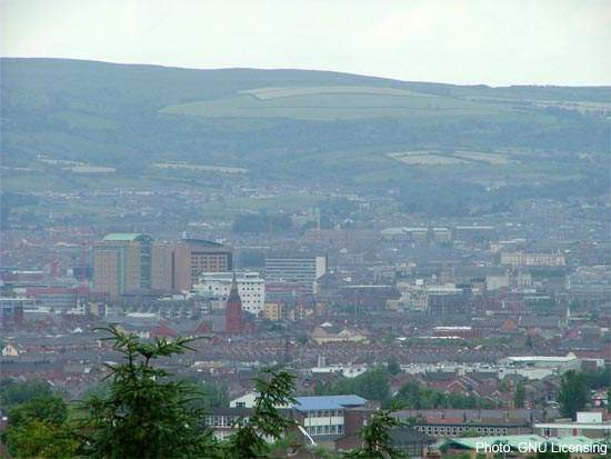 Looking over Belfast. Rapid development has taken its toll on Northern Ireland's existing wastewater infrastructure.