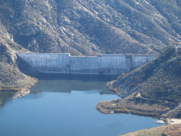 The project increased the surface area of the dam by 500 acres. Image courtesy of SDCWA.