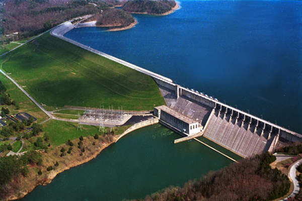 An artistic rendition of the Wolf Creek Dam.