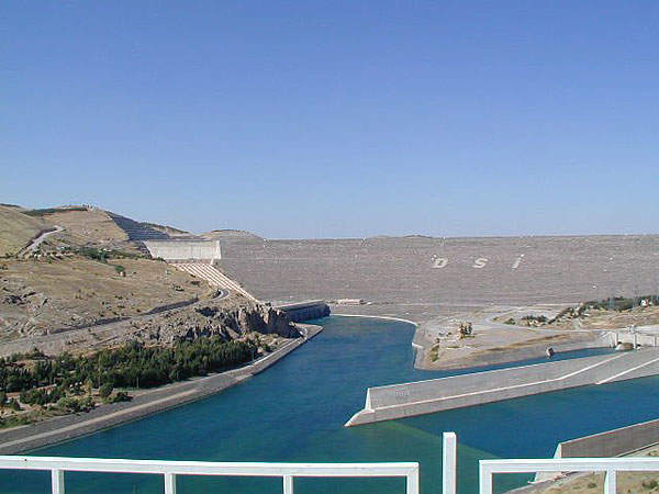 Atatürk Dam in Turkey is one of the largest earth-and-rock fill dams in the world.