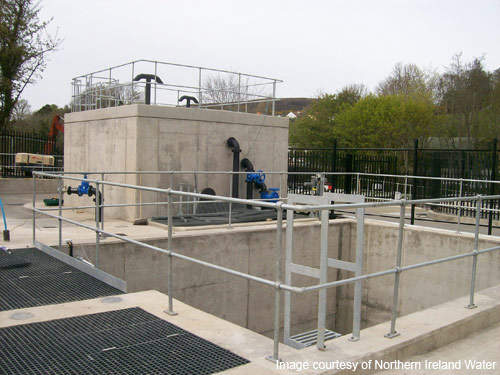 The Park wastewater treatment works is built with a rotating biological contactor.
