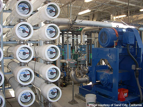 All internal RO equipment, pumps and piping within the facility were installed in March 2009.