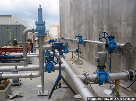 External pipes at the Bundamba plant.