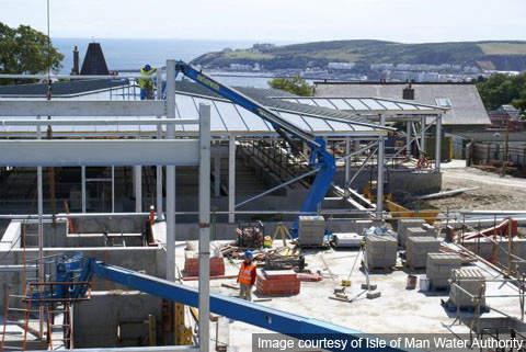 Construction work underway in August 2006.