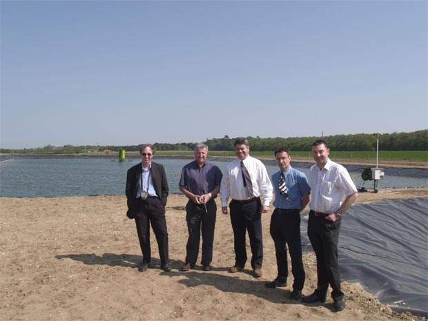 A recent delegation from Severn Trent with John Gillett (centre), MD of LAS International (Europe).