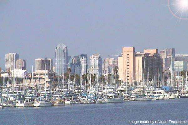 San Diego from the waterfront. With a current population of more than 1.3 million and predicted to approach two million by 2030, since July 1998, the city has been implementing a major capital improvements programme to meet the future needs of its inhabitants. The Miramar project forms part of this scheme.