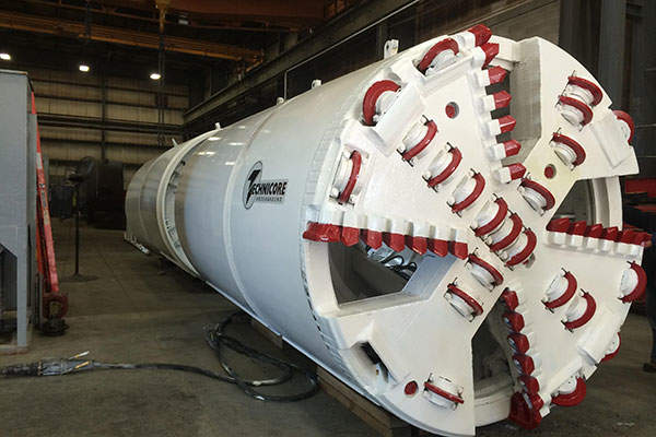 A 1,500mm TBM at the Hanlan Water Project contract three site.  Photo courtesy of Peel Region, Canada.