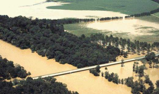Some of the worst flooding occurred along Georgia's Ocmulgee River and its tributaries; Macon was one of the hardest hit cities.