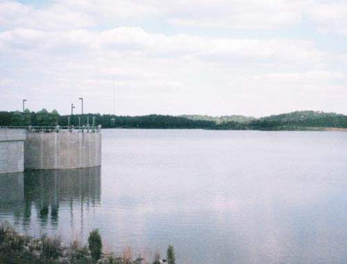 Water drawn from the Ocmulgee River is pumped to Javors J Lucas Lake - the Town Creek Reservoir - to feed the adjacent Amerson WTP.