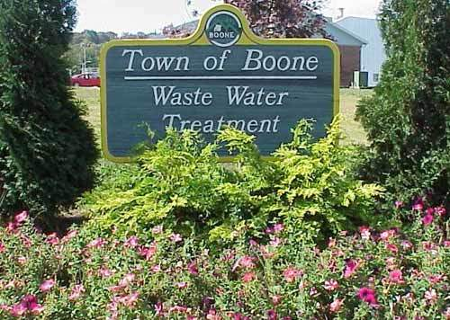 The wastewater treatment plant in Boone, North Carolina.