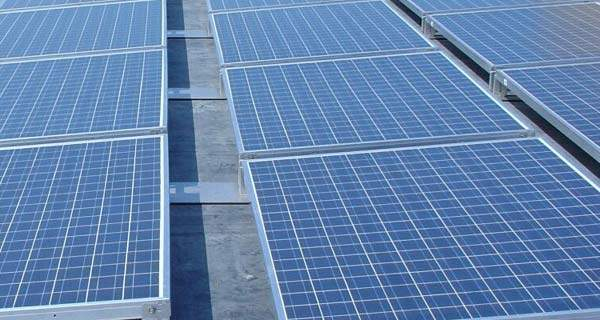 The plant's new photovoltaic system comprises over 2,800 panels.