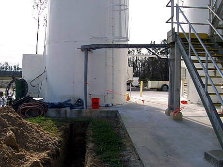 The expansion retains the same main treatment processes as the existing plant.