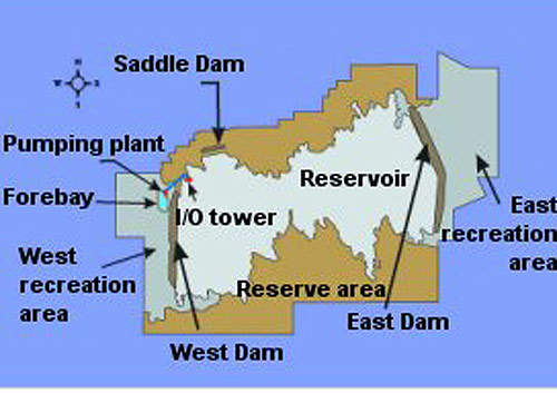 Map of the Eastside Reservoir project.