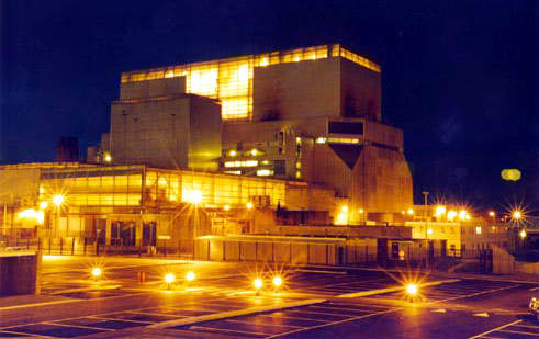 Hinkley Point B at night. Ecolochem provide a guaranteed 24-hour-a-day, 365 days-a-year response, should the need arise.