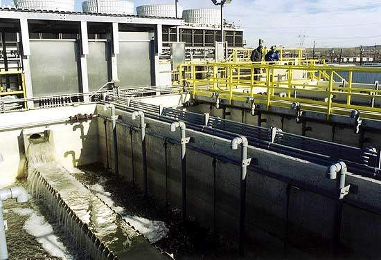 Hydro-Clear pulsed bed sand filters at Bergen Power Station.