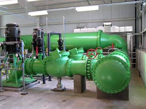 One of the new pumping station installations.