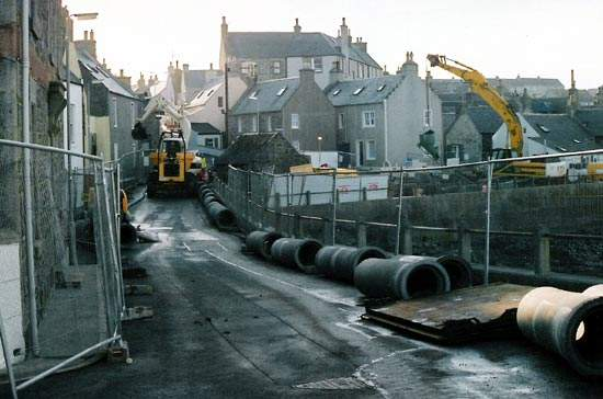 Early 2004 saw extensive work in Whitehills to upgrade and improve the area's storm water arrangements.