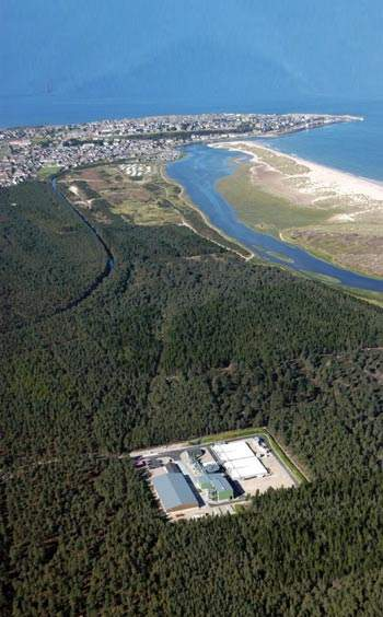 Lossiemouth wastewater treatment works is the central sludge treatment and disposal facility for the entire project.