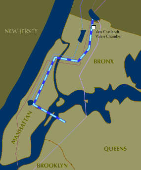 Beginning at Hillview Reservoir in Yonkers, stage one of the tunnel extends south through the Bronx, into Manhattan and across Central Park.