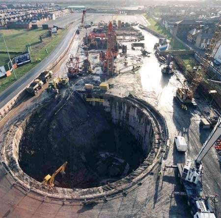 In 1999, a major stormwater storage facility was constructed beneath one of Blackpool's car parks, as part of an ongoing regional programme to improve bathing water quality.