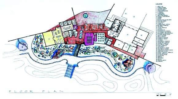 The new facility's floor plan.