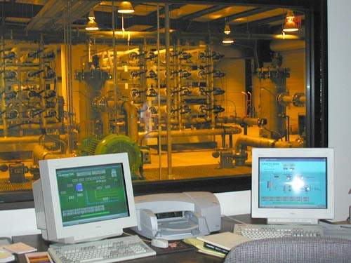 Computer technology is used extensively. The plant has state-of-the-art SCADA systems and the PLC controls are housed in a separate climate controlled room.