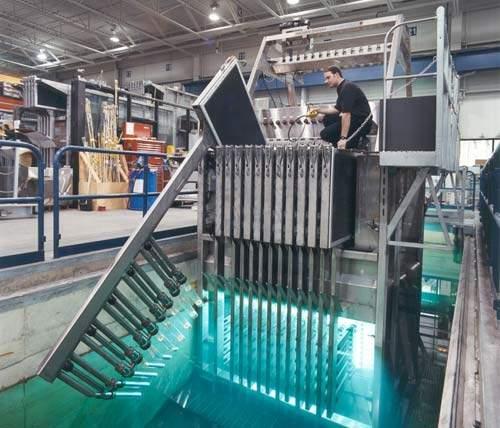 A Trojan UV 4000 unit undergoing final manufacturer's testing.