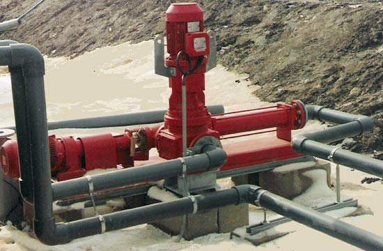 A total of 72 pumps were supplied, including 25 small flow rated units like this one.