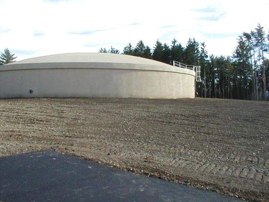 Initial site restoration and landscaping work was completed within a month of the second tank being brought into use.