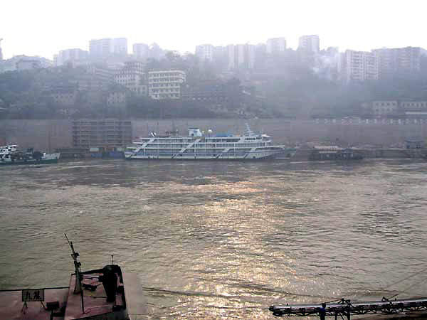 Chongqing City from the Yangtze River.