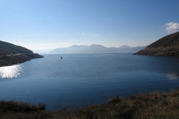 Diamond Valley Lake is the largest reservoir in Southern California and has a capacity to hold about 800,000 acre-feet of water.