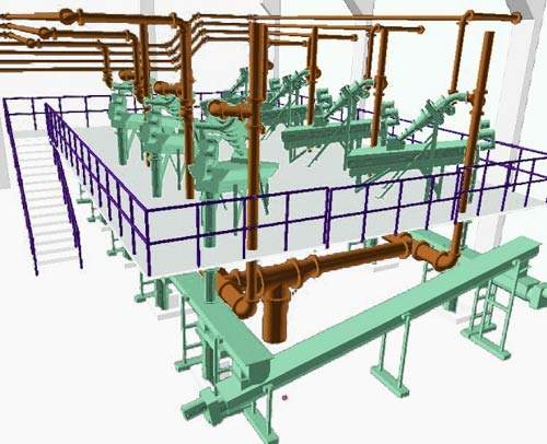 Phase II used 3D design software to provide the 3,000 drawings required, ultimately winning the 2005 Bentley Empowered Award for Plant 3D Modelling.