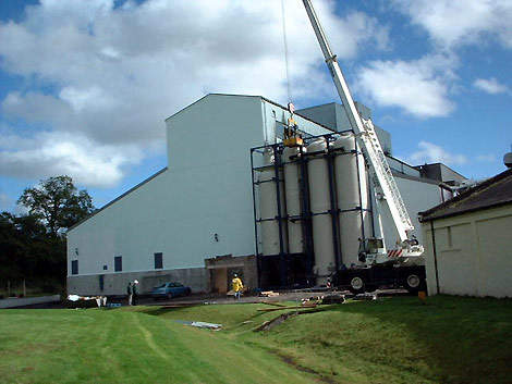 The installation of the new BioBed Modular Plant in October 2001.