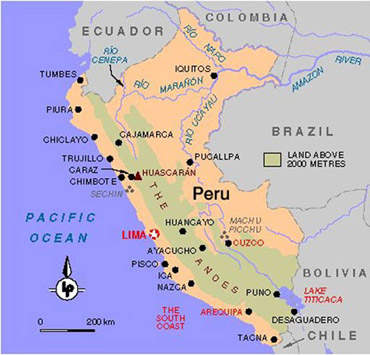 The Rio Chillon water supply project is located in Peru, close to Lima.