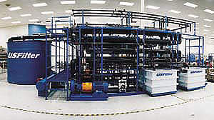 US Filter's Continuous Microfiltration Plant at Lake Erie, Canada.