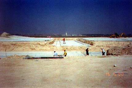 Construction of the desalination plant began in 1999.